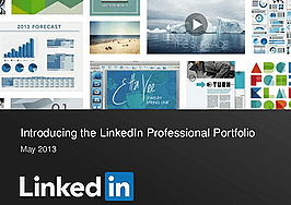 LinkedIn lets users add visual content to profiles