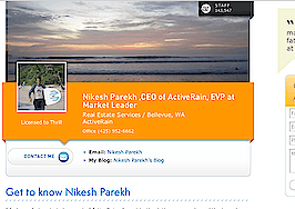ActiveRain revamps user profile pages