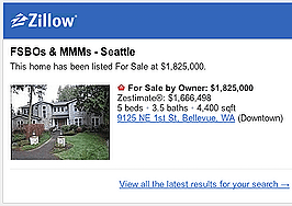 Alerts let agents monitor Zillow for potential seller clients