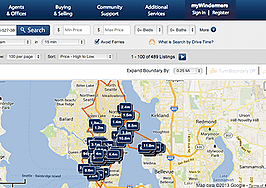 Windermere Real Estate and INRIX debut search-by-commute tool