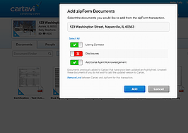 ZipForm integrated into Cartavi transaction management platform