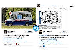 Ben & Jerry's ice cream truck vs. Facebook gift card