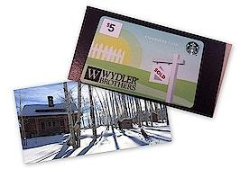 Sleepover showings vs. branded Starbucks cards