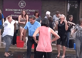 Real estate embraces ALS 'ice bucket challenge'