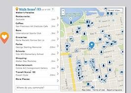 Walk Score strips ads from free, embeddable neighborhood info tool