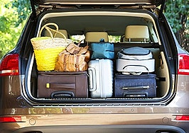 real estate agent car trunk