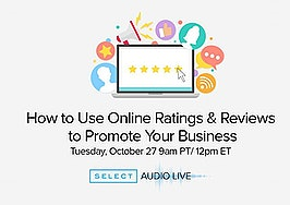 How to use online ratings and reviews to promote your business