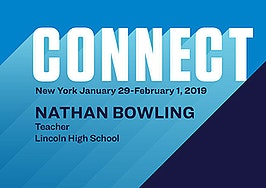 Connect the Speakers: Teacher of the Year Nathan Bowling on building relationships