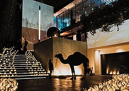 Celebrities, nudity and a camel: The 'home tour' that had it all