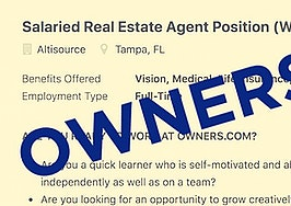 Owners.com is seeking to hire salaried agents in some markets
