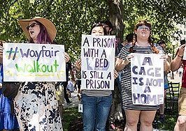 Wayfair employees protest, stage walkout over border camp furniture